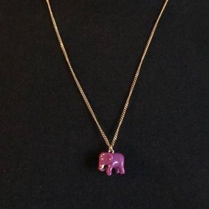Magenta Elephant Necklace